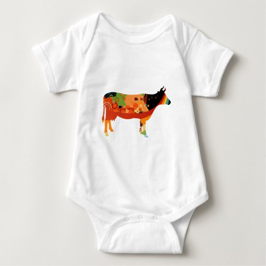 Truly Amoozing MEaty Colored Cows Baby Bodysuit