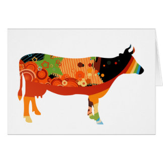 Truly Amoozing MEaty Colored Cows Card