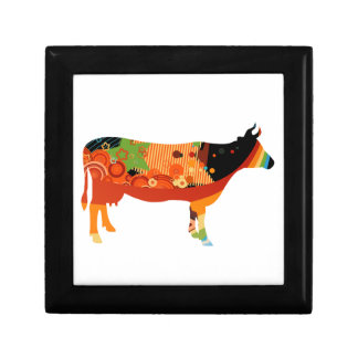 Truly Amoozing MEaty Colored Cows Jewelry Box