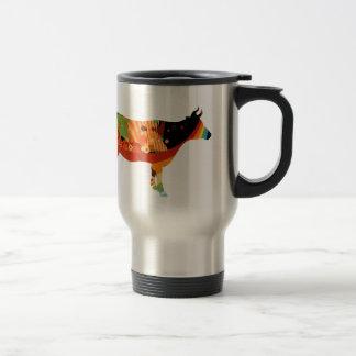 Truly Amoozing MEaty Colored Cows Travel Mug