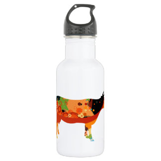 Truly Amoozing MEaty Colored Cows Water Bottle