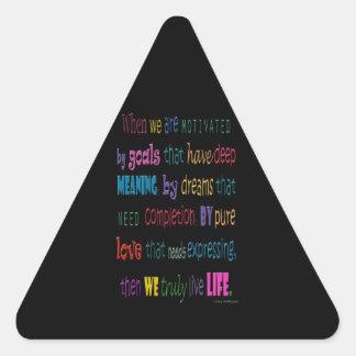 Truly Love Life Triangle Sticker