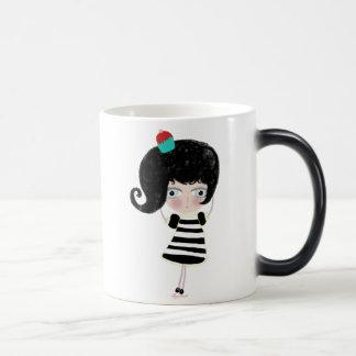 Truly magic black mug when is hot doll appear !