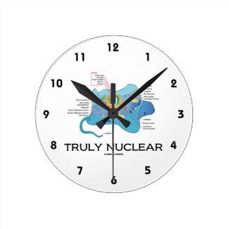 Truly Nuclear (Animal Cell Eukaryote Eukaryotic) Wallclock