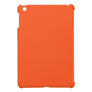 Truly Tangerine Orange Color Gray Trend Template iPad Mini Covers