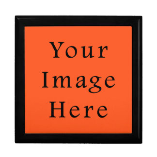 Truly Tangerine Orange Color Gray Trend Template Jewelry Box