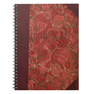 Truly vintage: old, antique book cover - retro notebook