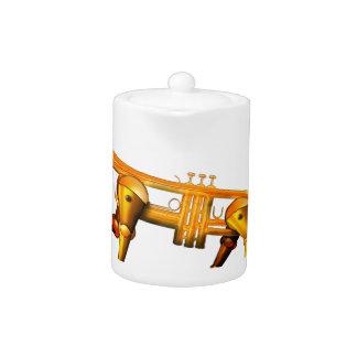 trum pet teapot