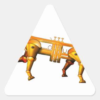 trum pet triangle sticker