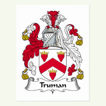Truman Family Crest Postcard