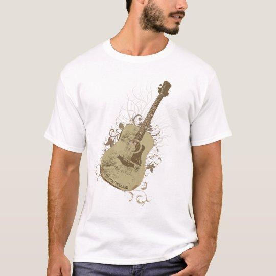 Truman Holland Guitar Tree Brown Vtg Womens T-Shirt