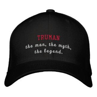 Truman the legend embroidered baseball cap