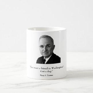Truman y cita divertida taza de café
