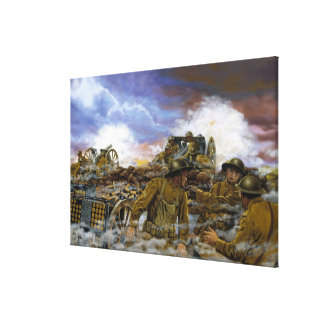 Trumans Battery by Dominic D'Andrea Print Stretched Canvas Print