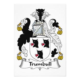 Trumbull Family Crest Custom Invite