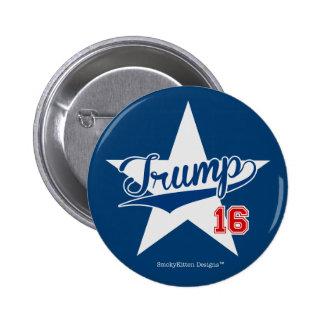 Trump 16 Baseball Script Star (Donald Trump 2016) Pinback Button