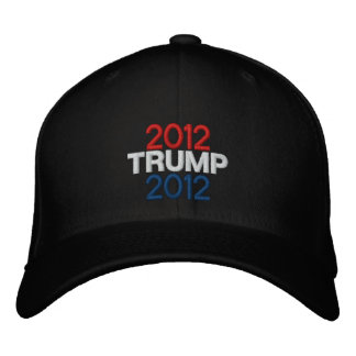 Trump 2012 Embroidered Hat - BLACK