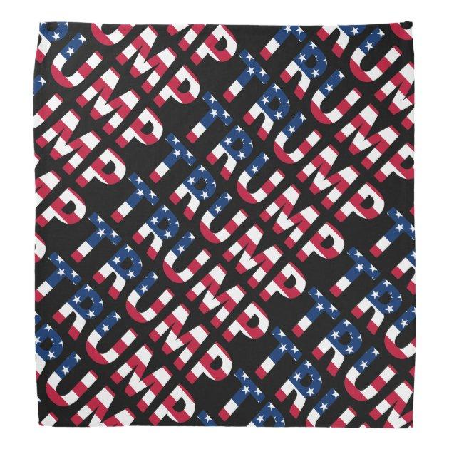 trump 2016 american flag bandana