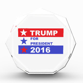 Trump 2016 acrylic award