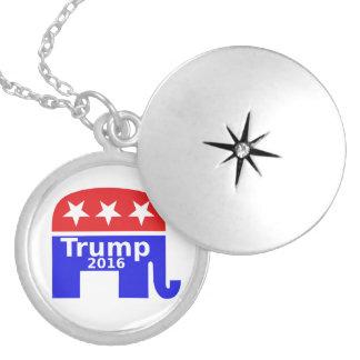 Trump 2016 campaign gop round locket necklace