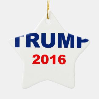Trump 2016 ceramic ornament