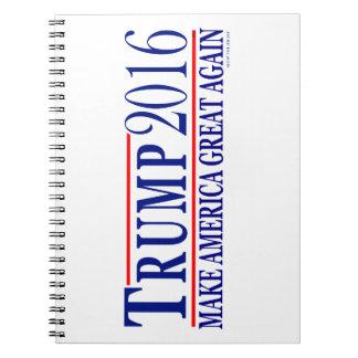 Trump 2016 make America Great Again Spiral Notebook