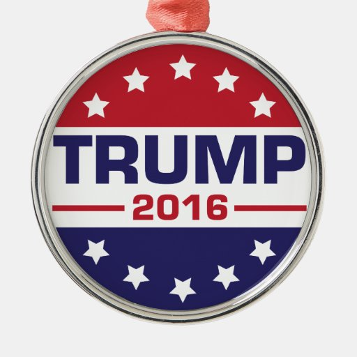 Trump 2016 metal ornament