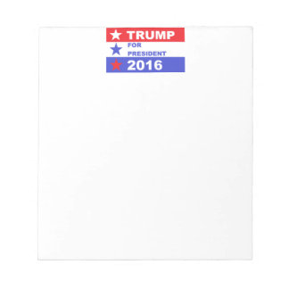 Trump 2016 notepad