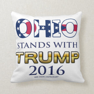 Trump 2016 Ohio themed dual designs pillow