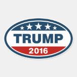 Trump 2016 oval sticker