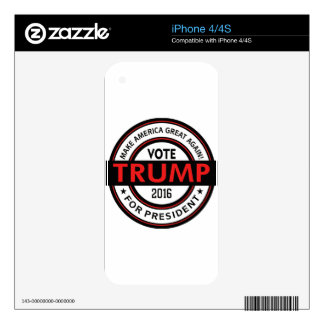 Trump 2016 President USA Election Decals For iPhone 4S