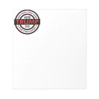 Trump 2016 President USA Election Notepad