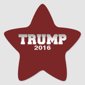 Trump 2016 star sticker