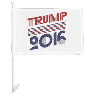 Trump 2016 Vintage Campaign Style Car Flag