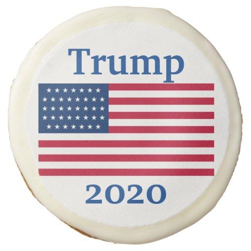 Trump 2020 American Flag Party Sugar Cookie