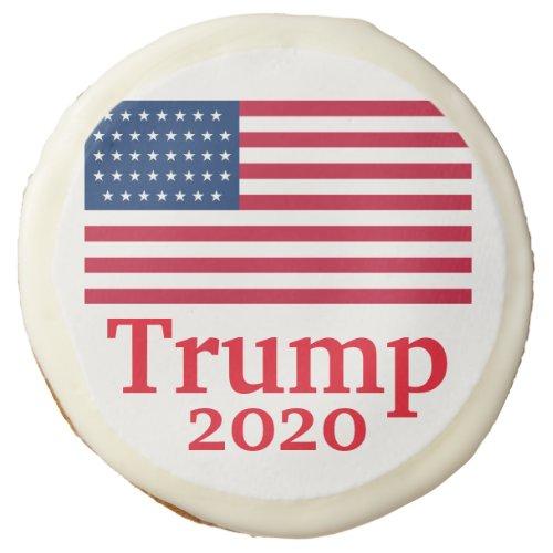 Trump 2020 American Flag Red Sugar Cookie