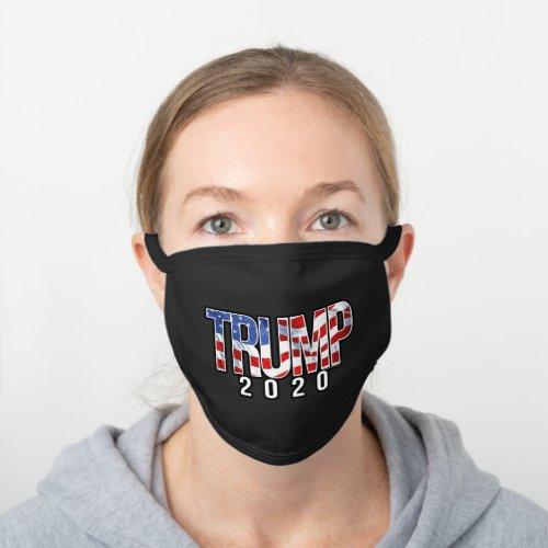Trump 2020 black cotton face mask