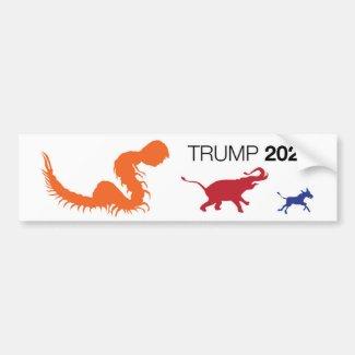 Trump 2020 Centipede Trumper Sticker