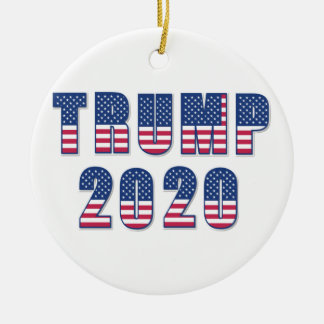 Trump 2020 ceramic ornament