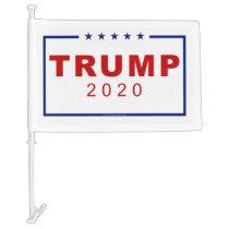 Trump 2020 Classic Rectangle Logo Car Flag