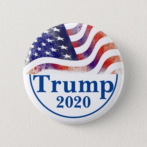 Trump 2020 Faded American Flag Campaign Button