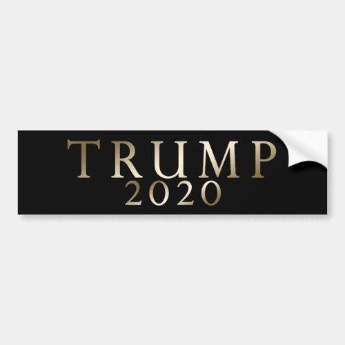 Trump 2020 Gold on Black Sophisticated Bumper Sticker