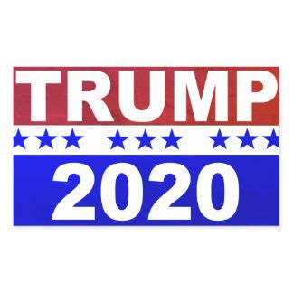 Trump 2020 rectangular sticker