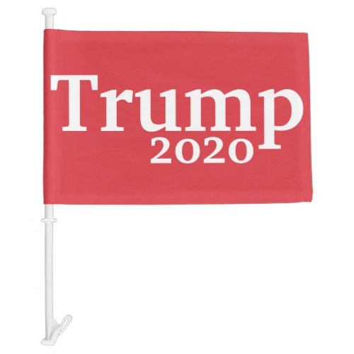 Trump 2020 Red and White Presidential Campaign Car Flag