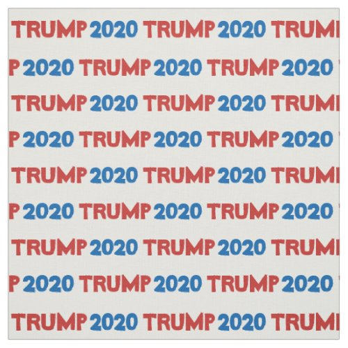 Trump 2020 Red Blue Pattern Fabric
