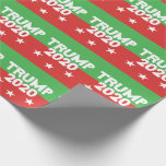 "TRUMP 2020 Red Green Christmas Wrapping Paper<br><div class=""desc"">Donald TRUMP for President in 2020 Christmas Holiday Red and Green with White typography Gift Wrap.</div>"