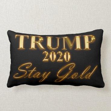 USA Themed TRUMP 2020 - Stay Gold Lumbar Pillow