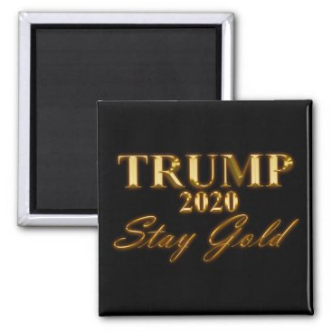 USA Themed TRUMP 2020 - Stay Gold Magnet