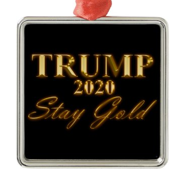 USA Themed TRUMP 2020 - Stay Gold Metal Ornament