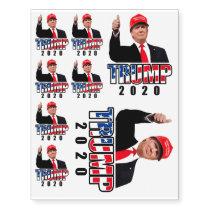 Trump 2020 temporary tattoos